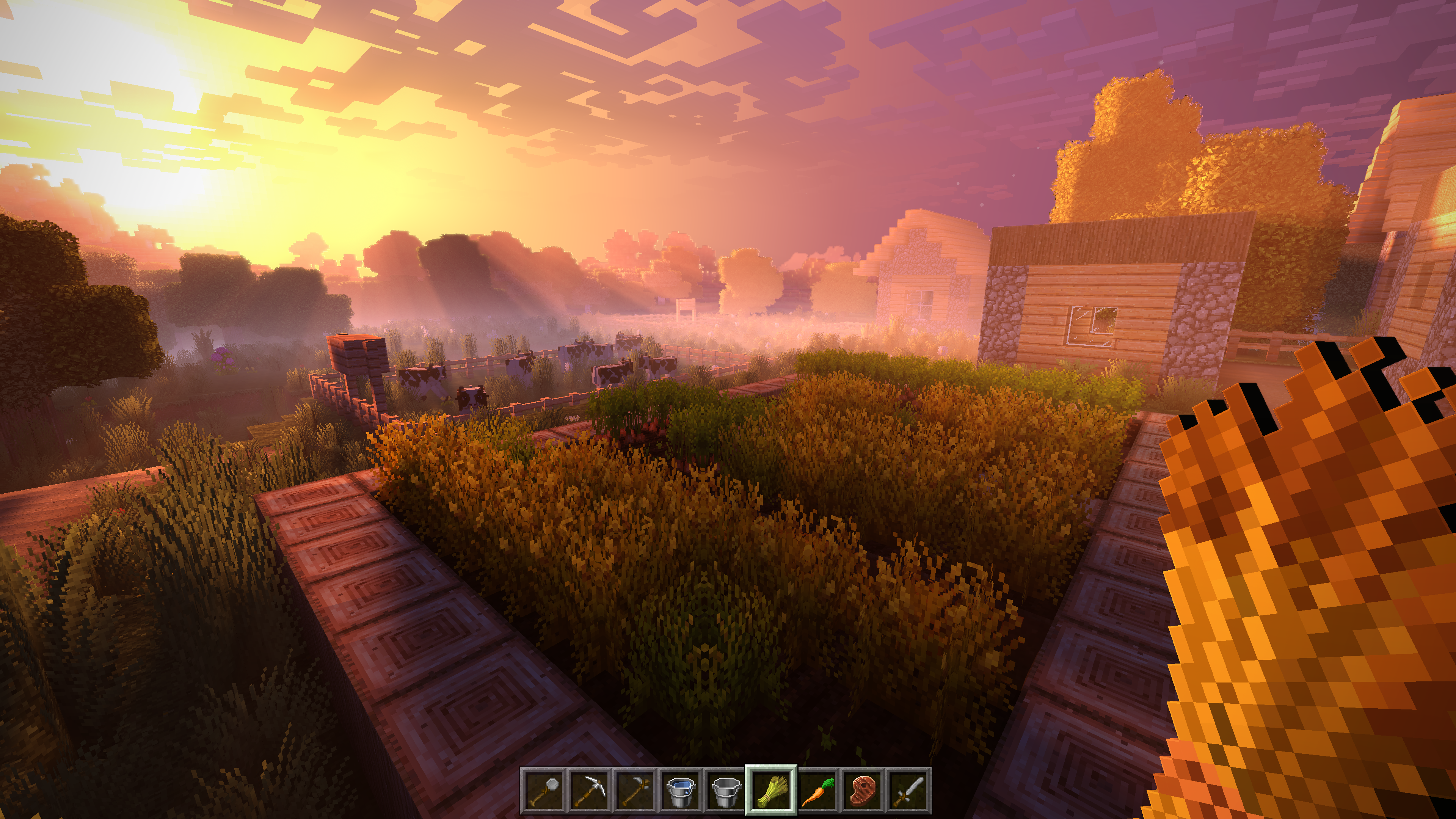 Minecraft Enhanced Sunset